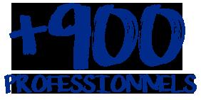 Plus de 900 professionnels